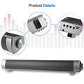 HIFI Wireless Soundbar Bluetooth Speaker Slim Magnetic Box Subwoofer Boombox Stereo Portable Hands free Loundspeaker FOR