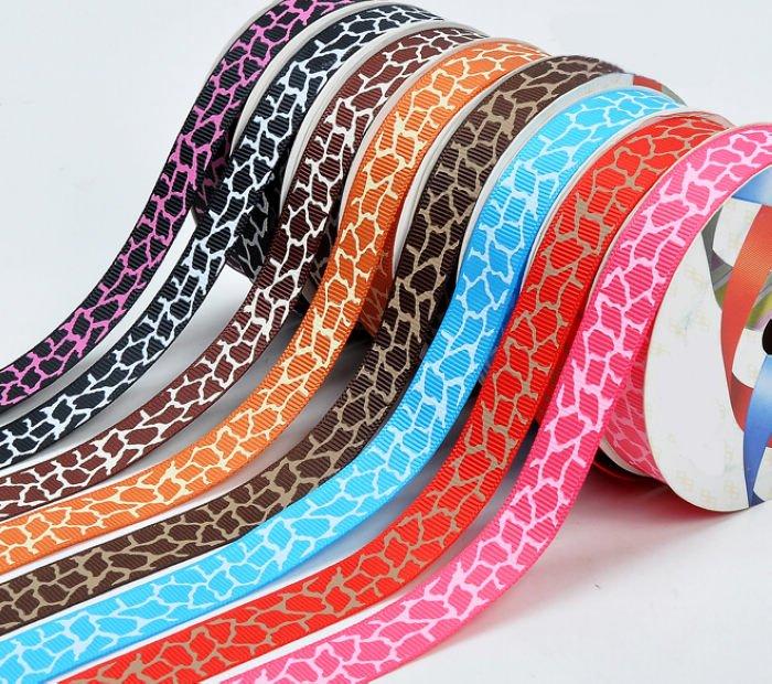 "3/8""(9mm) Animal Grosgrain Giraffe Ribbon Printed Packing DIY Bow Tape 100yard/lot Free Shipping(China (Mainland))"