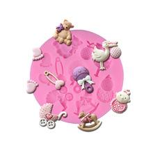 Различные детские игрушки силиконовые формы торт украшения помадка шоколадный пудинг силиконовые формы торта инструменты UIE084