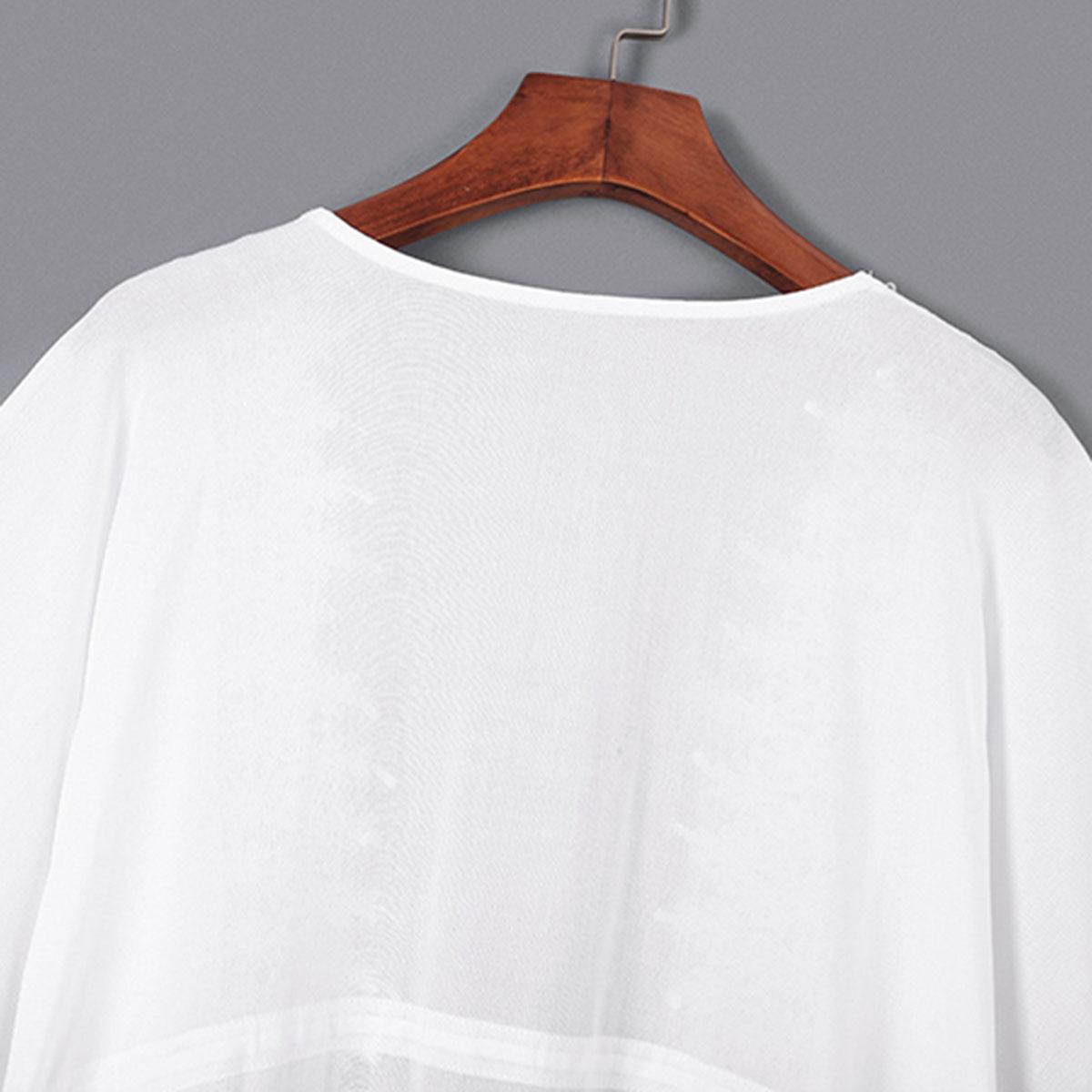 sommar bomull hakig cardigan blus 9070129ef7aee