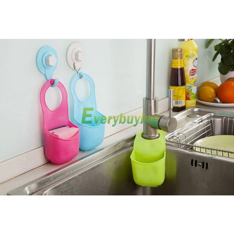 New Creative kitchen sink drain tank hanging tool bathroom shelf hanging storage organizer bag indispensable #71178(China (Mainland))