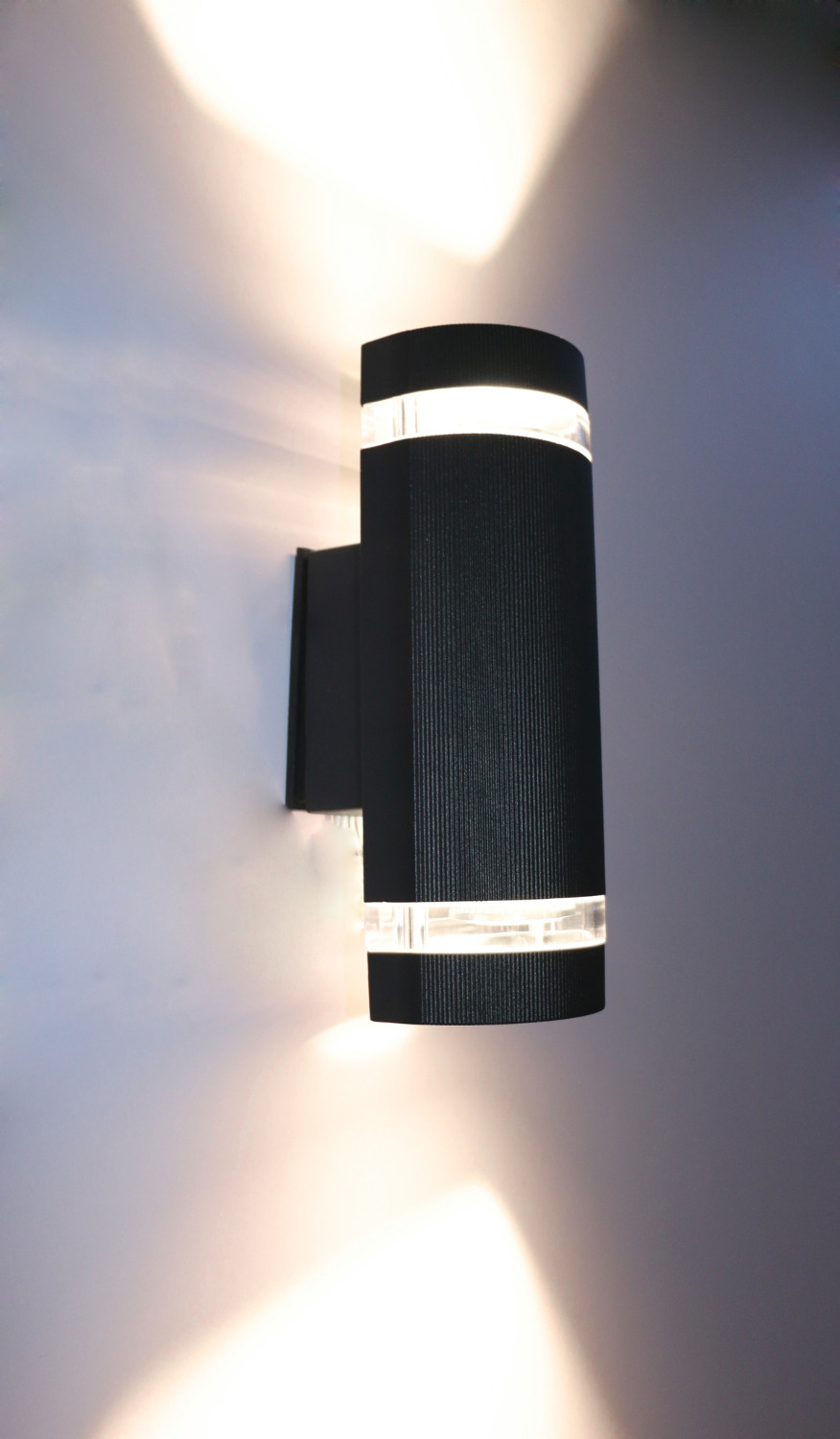 Semi cylinder up down indoor outdoor exterior wall light for Exterior up and down lights led