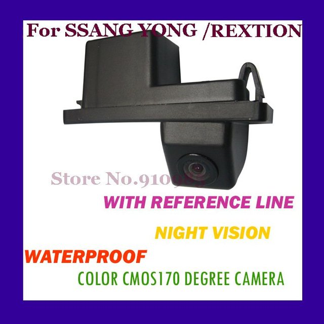 CAR REAR VIEW REVERSE BACK COLOR CMOS/170 DEGREE/WITH REFERENCE LINE/WATERPROOF/NIGHT VISION CAMERA FOR SSANGYONG/REXTON(CA-T011
