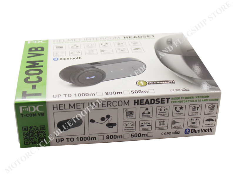 Free Shipping 2015Updated Version Original BT Bluetooth Motorcycle Helmet Intercom Interphone Headset with FM Radio