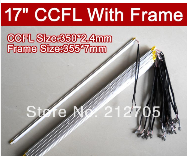 Free Shipping 2PCS 17 inch LCD monitor lamp backlight dual lamps CCFL with frame,CCFL with cover,CCFL:350*2.4mm,FRAME:355*7mm(China (Mainland))