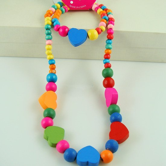 Cute Handmade jewelry !Lovely jewelry set chilren/kid/baby necklace bracelet set Fashion jewelry N CS26