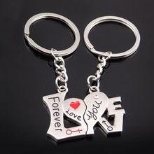 Pareja creativa llavero regalo taza amor llavero para los amantes llavero anillo soporte mejores amigos llaveros venta al por mayor(China)