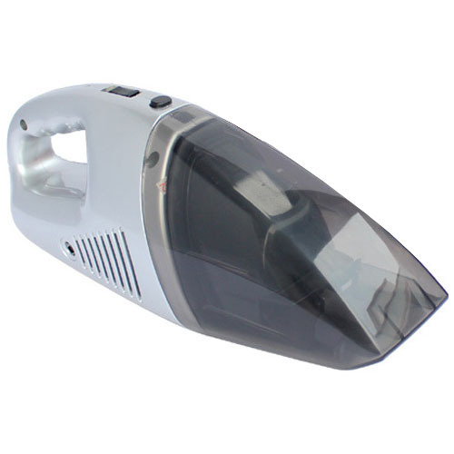 Free Shipping Silver Useful 12V Mini Wet&Dry Vacuum Cleaner Car Vacuum Dust Suction Auto Rechargeable Cleaner Gift(China (Mainland))