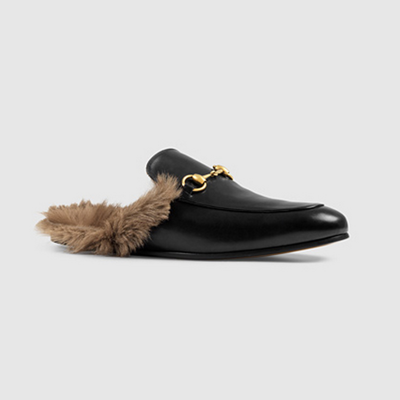 New Style Guci Men And Women Genuine Leather Shoes Import High Quality Rabbit Fur Slippers Woman Leather Sandals Wholesale<br>