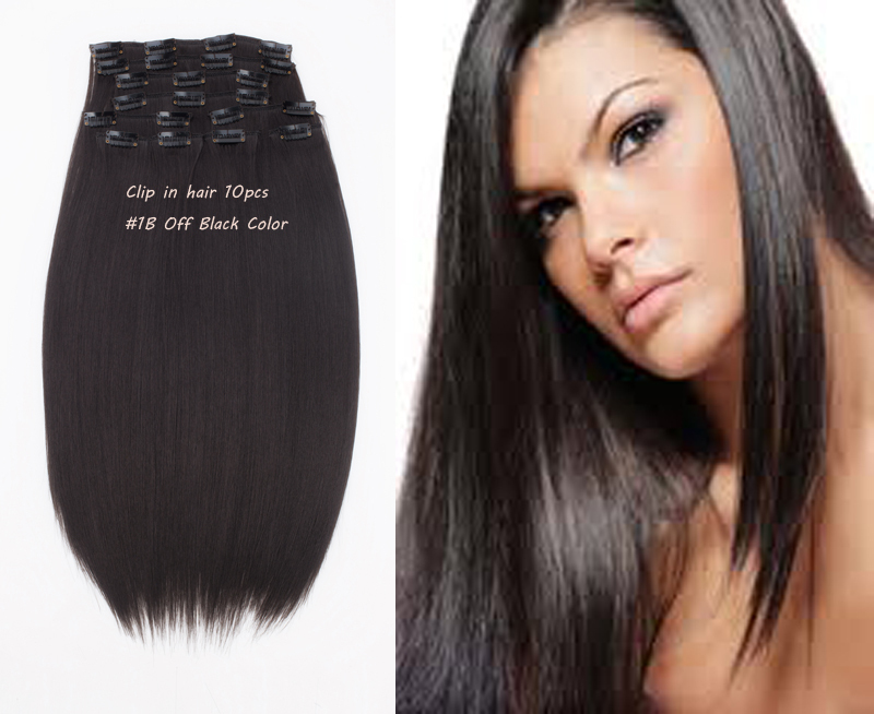 Clip synthetic hair extension 10pc 170g/set color: #2 Darkest Brown Guaranteed -synthetic clip - sexy products wigs store