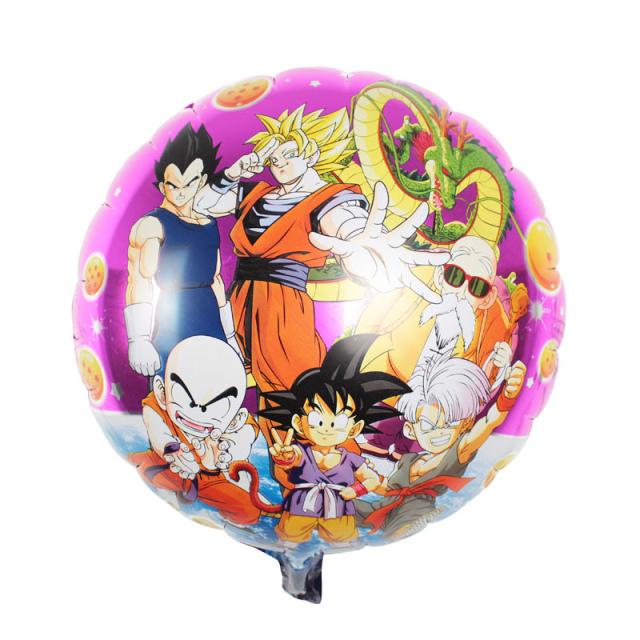 50pcs/lot 45cm 7 Dragon Ball z party supplies balloons baby birthday decoration Z Son Goku inflatable ballon(China (Mainland))