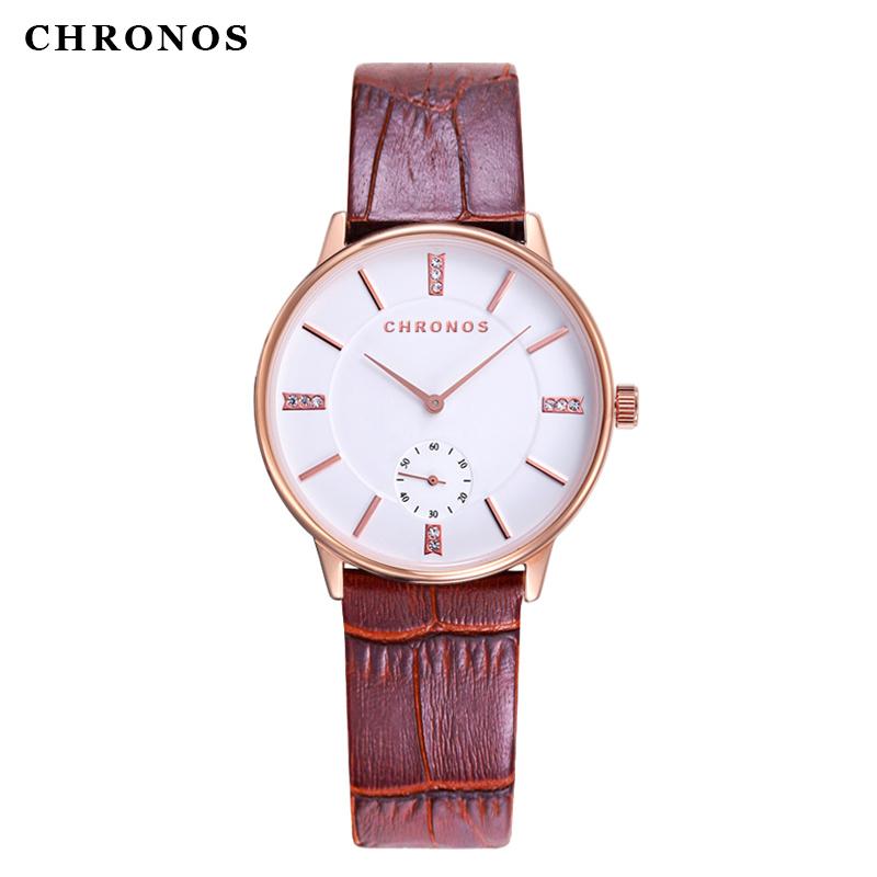 Super slim Quartz Casual Wristwatch Business CHRONOS Brand Leather band Analog Quartz Watch Men's 2016 relojes hombre(China (Mainland))