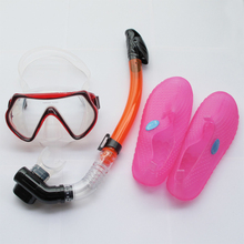 Sbart 3 Pieces One Diving Snorkel+One Mask+One Flippers Diving Spearfishing Swimming Mask Scuba Diving Snorkel Set(China (Mainland))