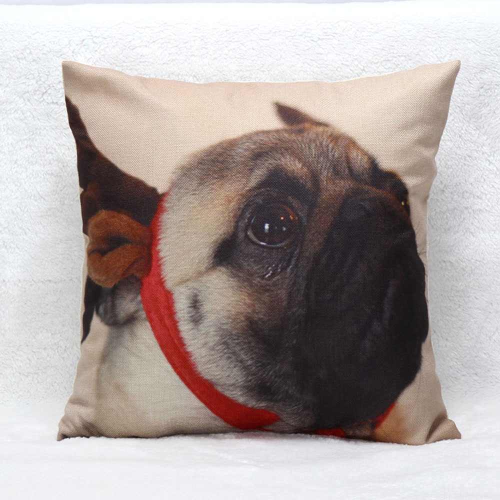 New Qualified Pillow Case Christmas Moetry Dog Sofa Bed Home Decoration Festival Cushion Cover dig6324