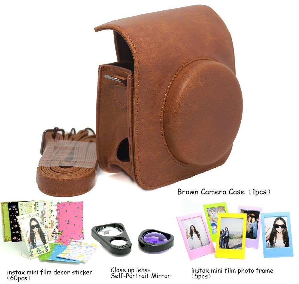 Fujifilm Instax Mini 90 Instant Camera Accessory Bundles Set (Included: Brown Mini 90 Vintage Case Bag/ Mini <br><br>Aliexpress