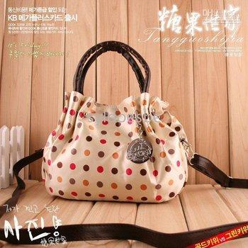 Handbag Ladies' Cute Round Dot Women's Shoulder Tote Bag Free Delivery Lowest Price!!!Mesh Aslant