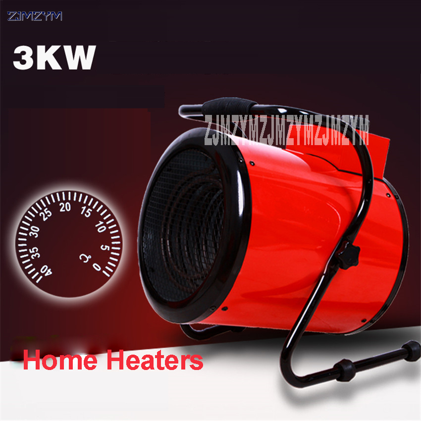 1pc AS-E003 High-power domestic industrial thermostat fan heaters Warm air heater Fan Steam air heater Electric heater 220V/50Hz