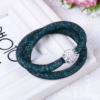 Ювелирные изделия ручной работы Stardust кристалл горный хрусталь браслеты женщины ...