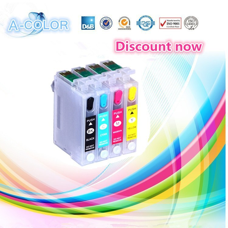 4PCS for epson t1281 t1282 t1283 t1284 Refill Ink Cartridge FOR EPSON S22 SX125 SX130 SX235W