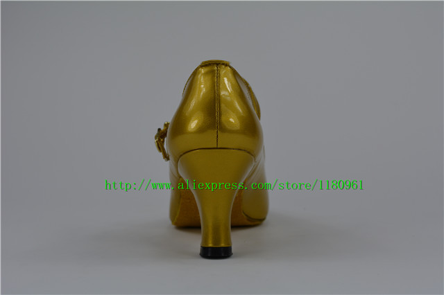 Manufacturers selling golden female M10 shoes can be customized square dance Latin dance shoes dancing shoes