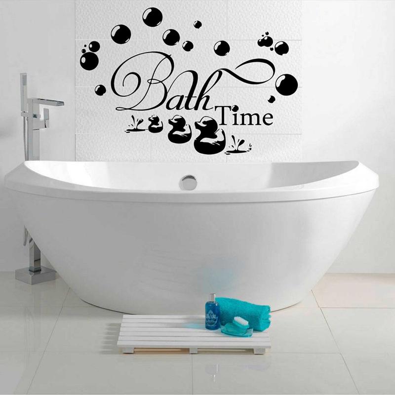 Bath Time Bubbles Soak Relax Wall Stickers Removable Vinyl Decal Bathroom Home Art Decor