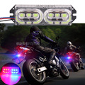 1Pcs 6leds LED Motorcycle Brake Turn Signal 12V Red Blue Light Motorcycle Warning Tail Stop Strobe