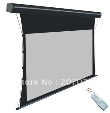 """HOT! Matte grey 100"""" 16:9 Luxury Tensioned Electric Screen Motorized Projection screen High-quality for home theater, KTV,,,(China (Mainland))"""