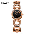 Grady Brand Luxury Crystal Rose Gold Watches Women Fashion Bracelet Quartz Watch Shock Watreproof Free Shipping