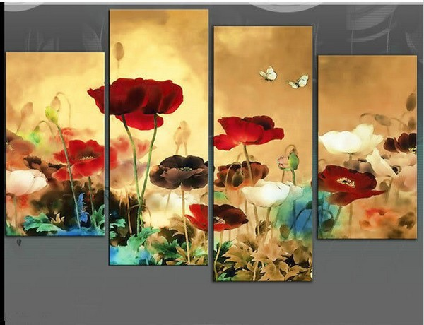 floral abstract art painting Decoration Wall Large Oil Painting (no framed)(China (Mainland))