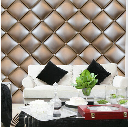 Modern 3d soft bag wallpaper mural bedroom living room tv for Living room 3d tiles