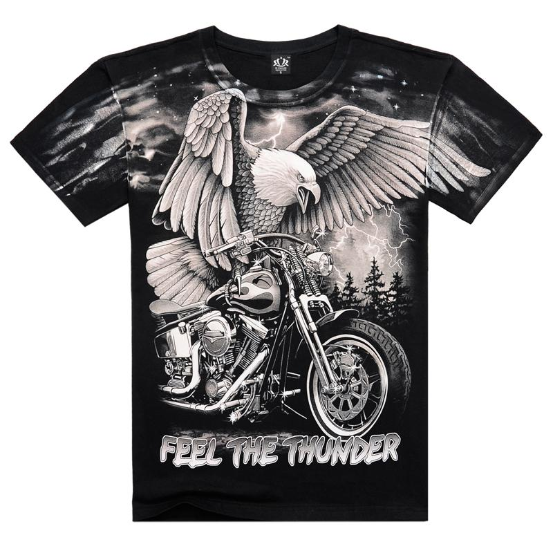 Motorcycle Eagle T Shirt 2015 Rock Band T Shirt Tee Brand Harley T Shirt Homme American Hip Hop Black Motorcycle Eagle T Shirt(China (Mainland))