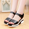 The new summer 2016 han edition of female students with flat sandals lady flat shoes with
