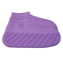 Zapatos para niños mujeres adultas hombre niño niñas lluvia niños zapatos cubre impermeable plegable deslizamiento niños Zapatillas(China)