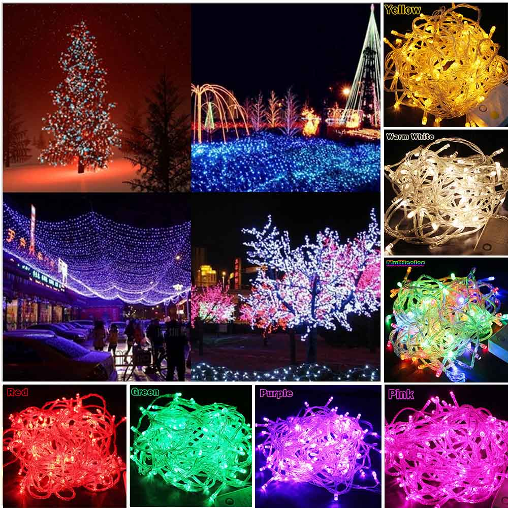 string light 100 led 10m christmas wedding party decoration lights ac - Decoration Lights