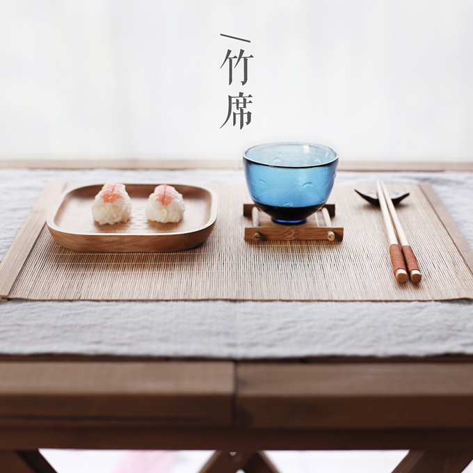 Japanese Style Bamboo Placemats For Table Insulation
