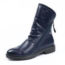 AIMEIGAO 2017 Frauen Mode Vintage Stiefeletten Weiche Leder Schuhe Weiblichen Frühling Herbst Stiefeletten Komfortable Frauen Schuhe(China)