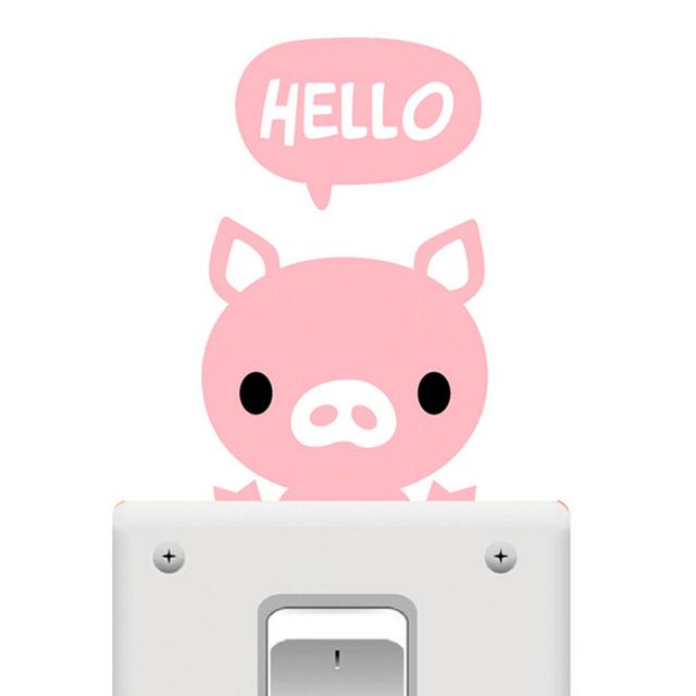 Online Shop Children Bedroom Cute Pink Pig Light Switch