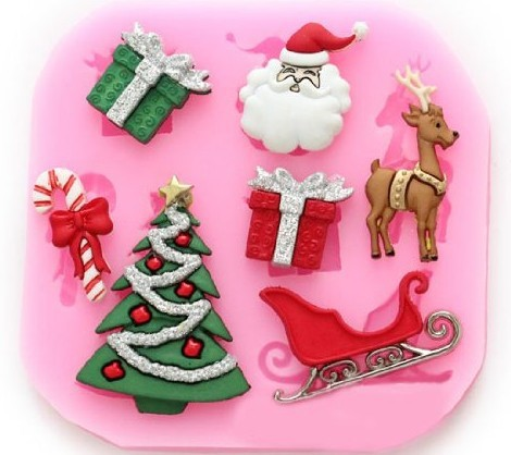 Cake Decorating Gift Experience : Aliexpress.com : Buy Silicone Fondant Christmas Tree gift ...