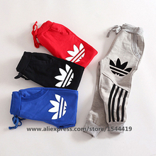 2016 New Spring Autumn Winter Big Boys Outdoor Casual Sport Sweatpants Kids Clothes Children Cotton Pants Toddler Loose Trousers(China (Mainland))