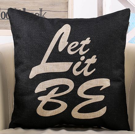 Throw Pillows With Words On Them : Pillows with words cushion cover letter black and white decorative throw pillow shabby chic home ...