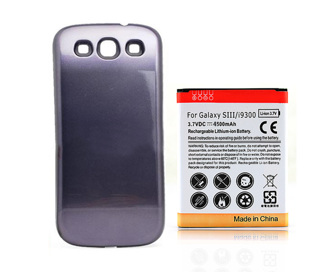 4500mAh With Blue Back Case Cover Battery For Samsung Galaxy S3 ...