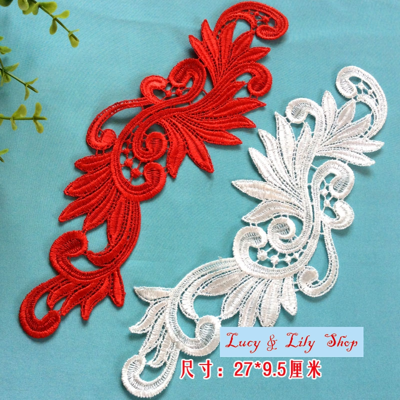 2016 New Embroidery Design Lace Patches Motifs For Evening