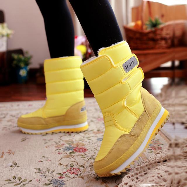 Бесплатная доставка 2016 новых зимой утолщение женская обувь снега сапоги тепловые ...