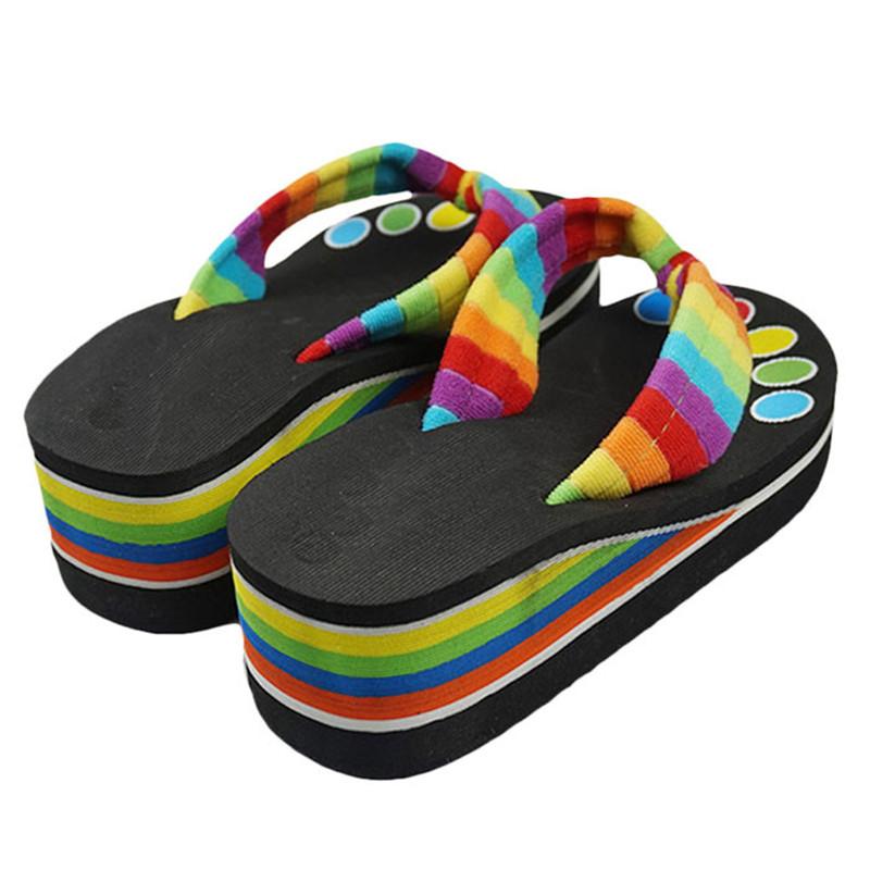 Brand designer Summer Women Shoes High Heels Flip Flops Platform wedges for women Sandals Flip slippers female beach woman shoes