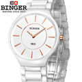 Switzerland luxury brand Wristwatches Binger ceramic quartz watches men lovers style 300M Water Resistance B8006B 5