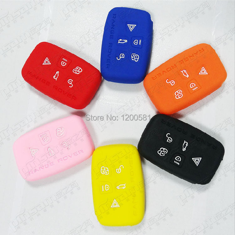 5 Buttons Key Case For Land Discovery Rover,Soft Silicone Key Cover For Range Rover Evoque Key(China (Mainland))