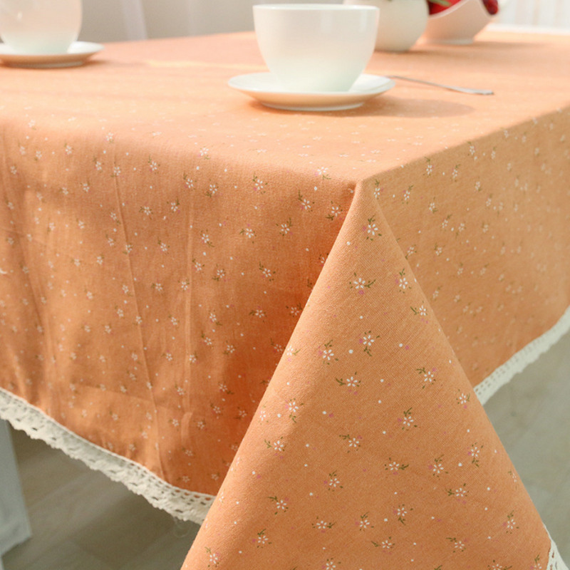 2 Colors Round Cotton Linen Table Cloth Nappe 2015 New arrival Korean Style Flowers Print Tablecloth Wedding Mantele Table Cover(China (Mainland))