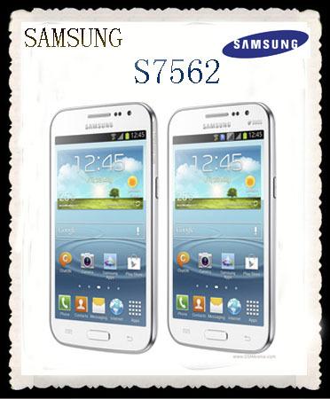 s7562 Original Samsung Duos S7562 cell phone 5MP camera wifi GPS 3g android 4.0 dual sim phone refurbished Free shipping(China (Mainland))