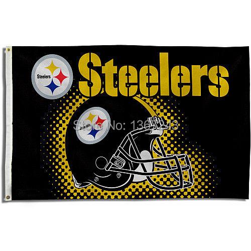 Pittsburgh Steelers Helmet USA NFL Premium Team Football Flag 3X5 ft custom Banner 90x150cm Sport Outdoor NPS5(China (Mainland))