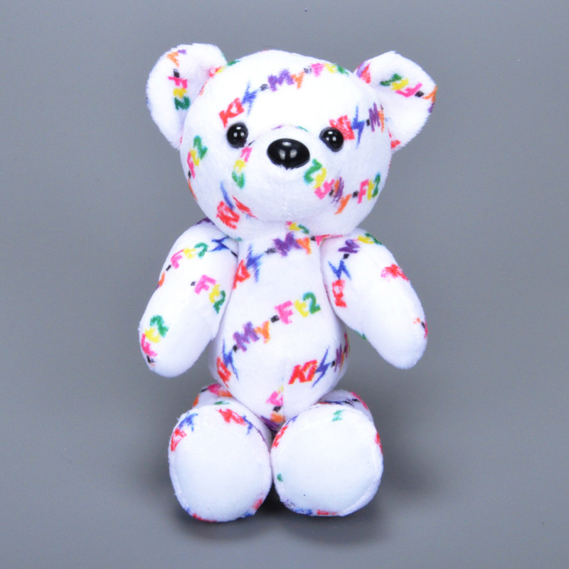 2016 Cartoon Bear plush toy Sweet Cute letter Bears stuffed doll Big Eyes Beanie Movies&TV Animals stuffed collectibles doll toy(China (Mainland))